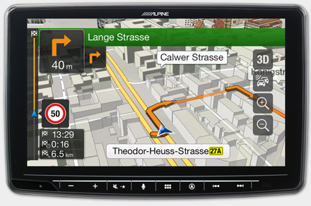Built-in Navigation with TomTom Maps - INE-F904DC