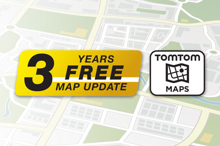 3 Years Free-Of-Charge Map Updates - INE-F904DC