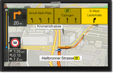 Lane TMC Route Guidance Map - Navigation System X901D-F